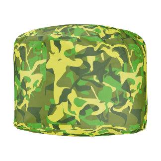 Pouf Un camouflage vert coloré plus léger de Camo