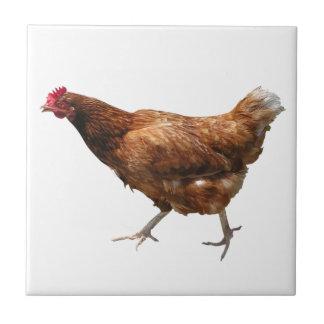 Poule de poulet carreaux en céramique