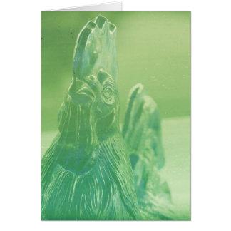 Poulet dans des tons verts carte