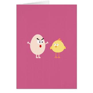 Poulet et oeuf carte