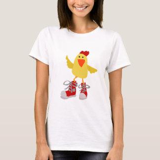 Poulet génial de jaune de danse t-shirt