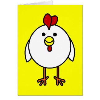 Poulet heureux mignon carte de vœux