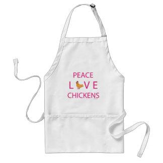 Poulets d'amour de paix tablier