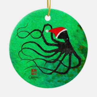 Poulpe 2 de Noël - ornement de cercle