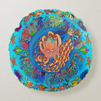 Poulpe - roi de l'océan coussins ronds