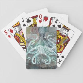 Poulpe vintage nautique jeu de cartes