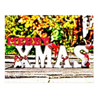 Poupée de Père Noël de Joyeux Noël Carte Postale