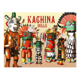 Poupées de Kachina de la tribu de Natif américain Carte Postale