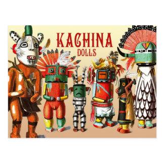 Poupées de Kachina de la tribu de Natif américain Cartes Postales