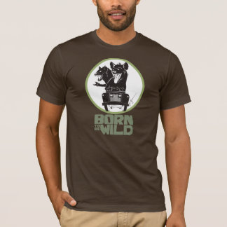 (Pour être) T-shirt sauvage né d'hyènes de roche