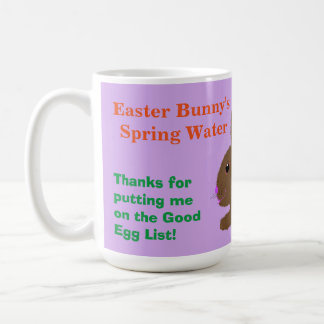 Pour la tasse de l'eau de lapin de Pâques