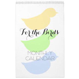 Pour les oiseaux calendriers muraux