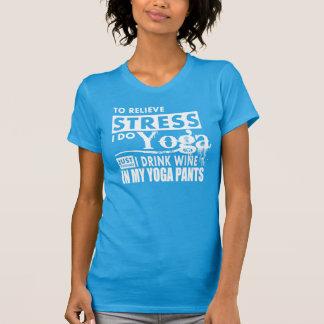 pour soulager l'effort je fais le yoga badinant t-shirt