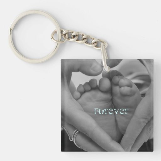 Pour toujours pieds de bébé à nos coeurs porte-clef