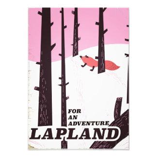 Pour un poster vintage de la Laponie d'aventure