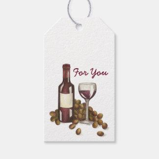 Pour vous étiquette de cadeau de raisins de verre