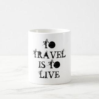 Pour voyager est de vivre tasse