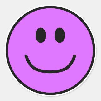 Pourpre de sourire 0002 d'autocollants de visage