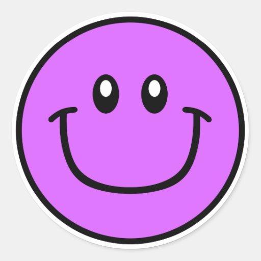 Pourpre de sourire 0003 d'autocollants de visage
