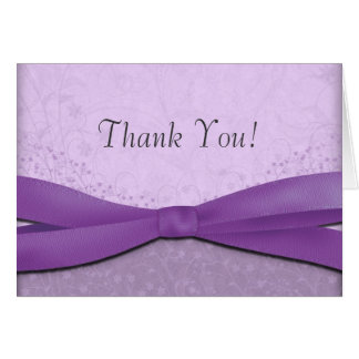 Pourpre et cartes florales de Merci de mariage de