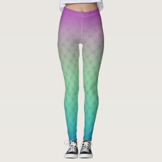 Pourpre et motif de filet de turquoise leggings