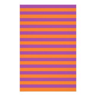 Pourpre et orange barre la papeterie