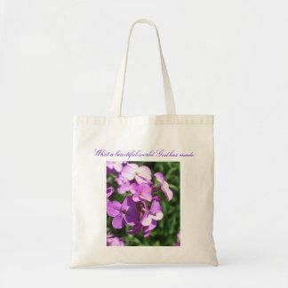 Pourpre Fleur sauvage-Ce qui un beau monde Tote Bag