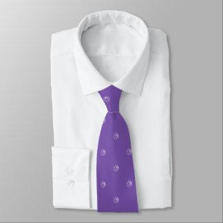 Pourpre royal de fan de basket-ball cravate