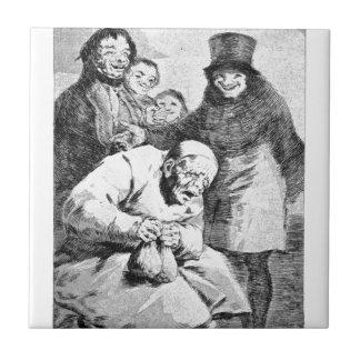 Pourquoi cachez-les ? par Francisco Goya Petit Carreau Carré
