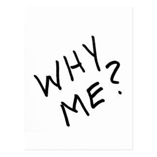 Pourquoi je ? dans le marqueur magique noir sur carte postale