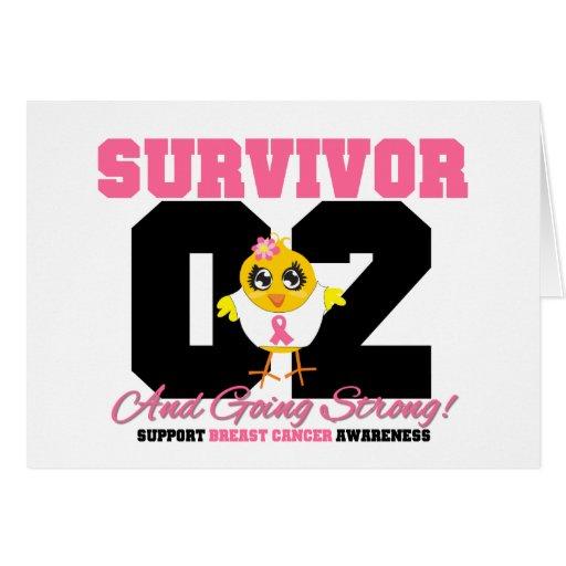 Poussin de survivant de cancer du sein 02 ans carte de vœux
