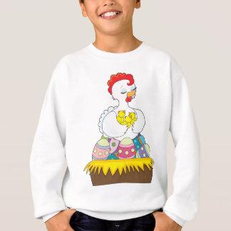 Poussin et oeufs sweatshirt