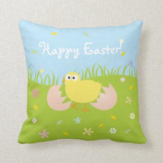 Poussin mignon heureux de bébé de Pâques Oreillers