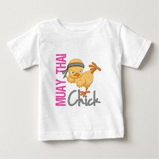 Poussin thaïlandais de Muay T-shirt Pour Bébé