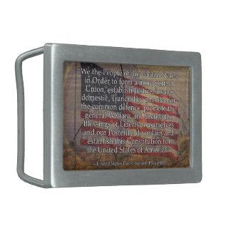 Préambule de constitution des USA au-dessus Boucle De Ceinture Rectangulaire