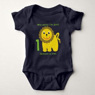 Premier anniversaire de lion mignon body