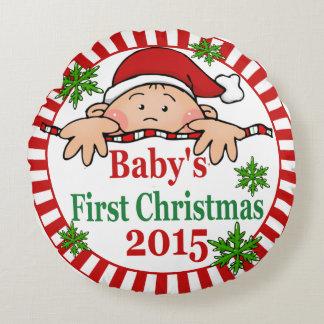 Premier coussin de Noël du bébé