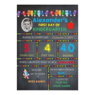 Premier GARÇON de carte photo de jardin d'enfants