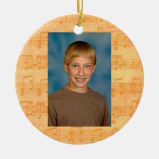 Premier jour de musique d'école tout l'ornement ornement rond en céramique