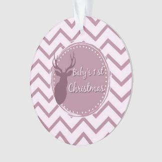 premier Noël de bébé rose