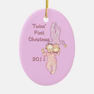 Premier ornement de Noël de 2011 jumeaux