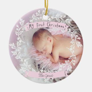Premier ornement de Noël de la photo du bébé