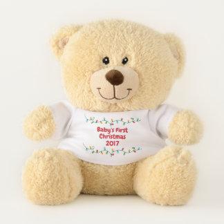Premier ours de Noël du bébé