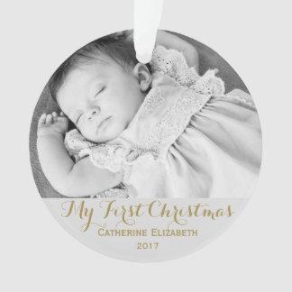 Premier souvenir de Colden de Noël de bébé