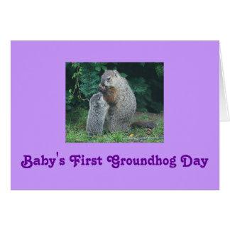 Première carte de voeux de jour de Groundhog du