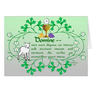 Première carte de voeux de sainte communion