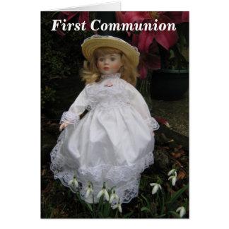 Première communion carte de vœux