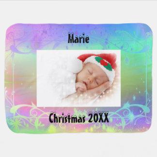 Première couverture de bébé de Noël du bébé