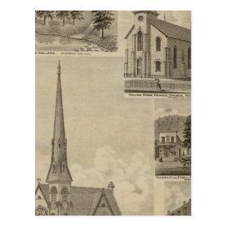 Première église d'Universalisty, Minneapolis, Carte Postale