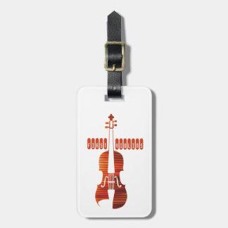 Première étiquette de bagage de violons étiquette à bagage
